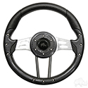 "RHOX Steering Wheel, Aviator 4 Carbon Fiber Grip/Brushed Aluminum Spokes 13"" Diameter"