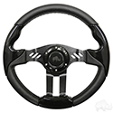 "RHOX Steering Wheel, Aviator 5 Black Grip/Black Spokes 13"" Diameter"