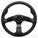 "RHOX Steering Wheel, Formula GT Black Grip/Black Spokes 13"" Diameter"