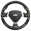 "RHOX Steering Wheel, Bonneville Carbon Fiber Grip/Brushed Aluminum Spokes 13"" Diameter"