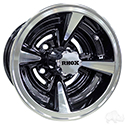 RHOX RX145, Machined with Gloss Black, 10x7 ET-15.5